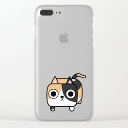 Cat Loaf - Calico Kitty Clear iPhone Case