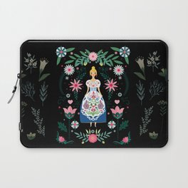 Folk Art Forest Fairy Tale Fraulein Laptop Sleeve