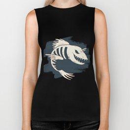 Fish Skull / Skeleton Biker Tank