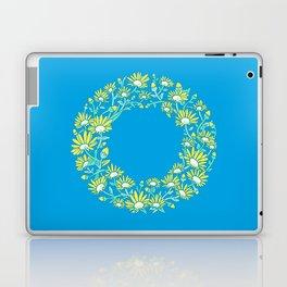 Floral Type - Letter O - Blue Laptop & iPad Skin