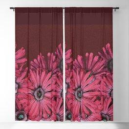 Pink Succulent Flowers Blackout Curtain