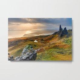Scotland Scenic Rolling Hills Landscape Metal Print