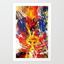 Red T Art Print