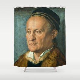 Portrait of Jakob Muffel by Albrecht Durer Shower Curtain