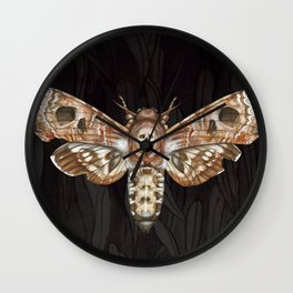 Exaggerated Death's Head Hawkmoth Wall Clock