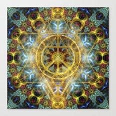 Sacred Geometry Fractal Mandala Canvas Print