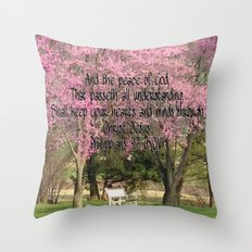 Redbud Beauties Throw Pillow