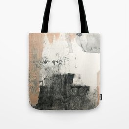 Peace and Quiet [1]: a pretty, minimal abstract piece in gray and peach by Alyssa Hamilton Art Tote Bag