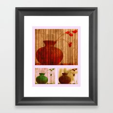 Vase Collage (warm, aged look) Framed Art Print