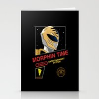 power rangers Stationery Cards featuring NES Power Rangers by IF ONLY