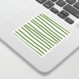 Simply Drawn Stripes in Jungle Green Sticker