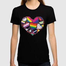 LGBTQA+ Community Pride Heart T-shirt
