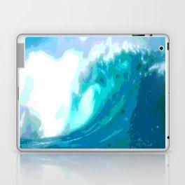 poster paint wave modern home design Laptop & iPad Skin