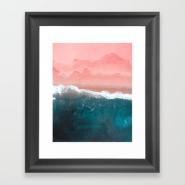 Turquoise Sea Pastel Beach II Framed Art Print