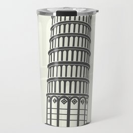 figure leaning tower of Pisa in Italy Travel Mug