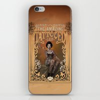 nouveau iPhone & iPod Skins featuring The Amazing Tattooed Lady by Rudy Faber