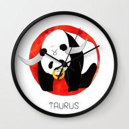 Panda Zodiac Taurus Wall Clock