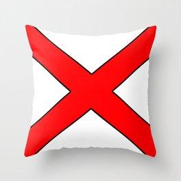 Saint andrew's cross 1- Throw Pillow