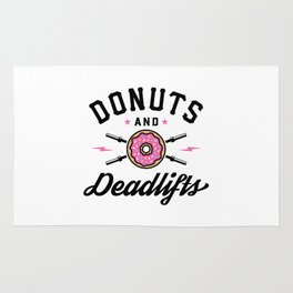 Donuts And Deadlifts v2 Rug