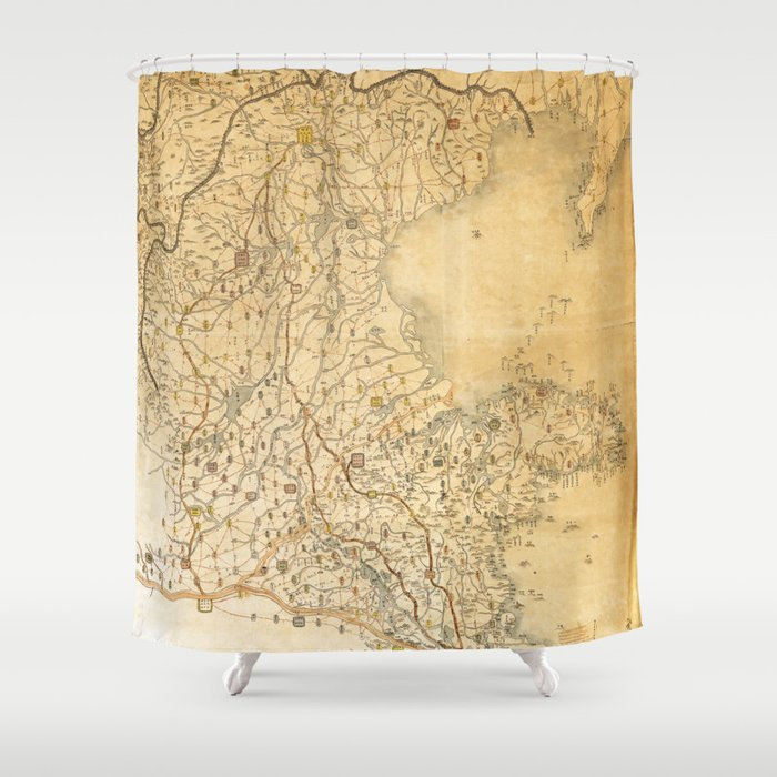 Map of Zhili and Shandong, China (c1855-1870) Shower Curtain