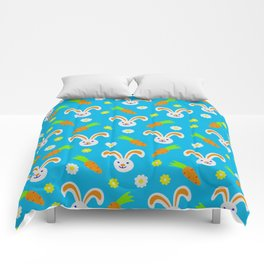 Easter Bunny and Carrots Pattern Comforters