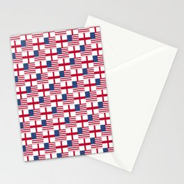 Mix of flag: Usa and england Stationery Cards