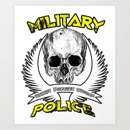 Military Police Armed Forces Mariens Navy War Gift Art Print