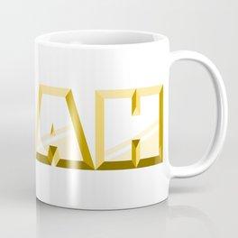 """NOAH"" first name yellow pattern Coffee Mug"