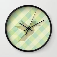 origami Wall Clocks featuring Origami by Mr and Mrs Quirynen