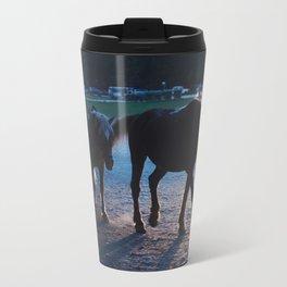 Light behind horses Travel Mug