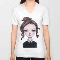 captain V-neck T-shirts featuring captain  by lily