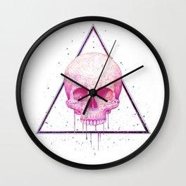 Skull in triangle Wall Clock