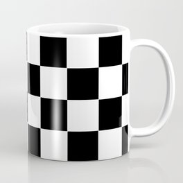 Checker Cross Squares Black And White Coffee Mug