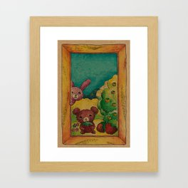 Forest wool Framed Art Print