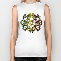 maori Biker Tanks featuring Rasta Colors on Maori Patterns by Lonica Photography & Poly Designs