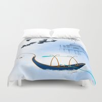 voyage Duvet Covers featuring VOYAGE by Rash Art
