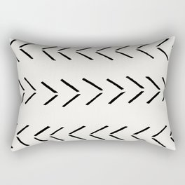 white arrow mudcloth chevron Rectangular Pillow