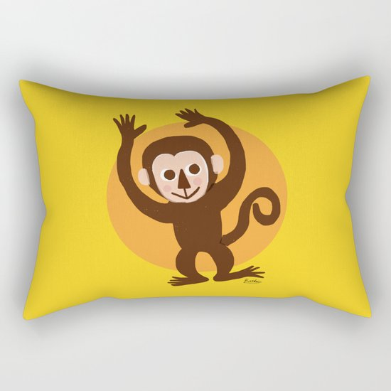Monkey Rectangular Pillow