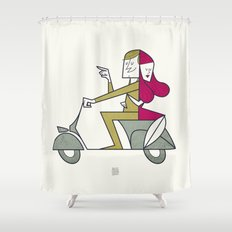 Lovers hug Shower Curtain