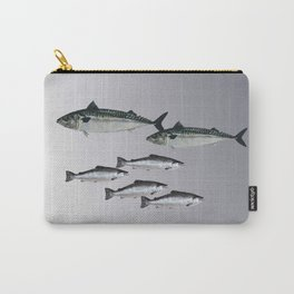 Tuna an Salmon Fish grey Carry-All Pouch