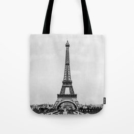 Eiffel tower in B&W with painterly effect Tote Bag