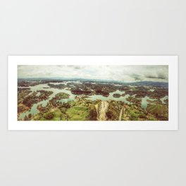 Colombian Lake Art Print