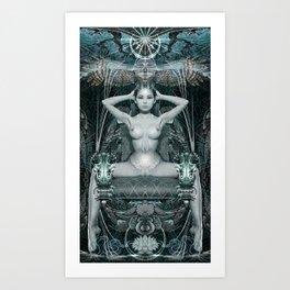Triptych: Shakti - White Goddess Art Print