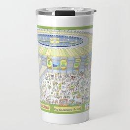 Maracana Soccer Arena, Rio de Janeiro, Brazil Travel Mug
