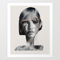 megan lara Art Prints featuring Lara by Zaneta Antosik