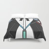 persona Duvet Covers featuring Persona 3 Protagonist Uniform by Bunny Frost
