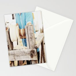 The artisan and the lathe Stationery Cards