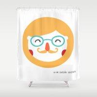 dad Shower Curtains featuring DAD by Mi Jardín Secreto