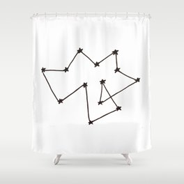 Constellation of Nothing Shower Curtain