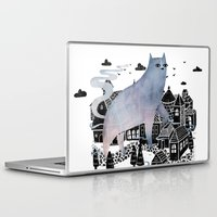 fog Laptop & iPad Skins featuring The Fog by littleclyde